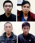 Công an quận Hoàng Mai bắt nhóm cướp giật tài sản