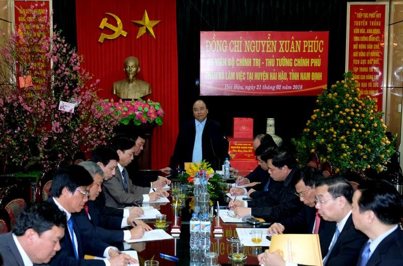 Thủ tướng thăm và làm việc tại huyện Hải Hậu, Nam Định