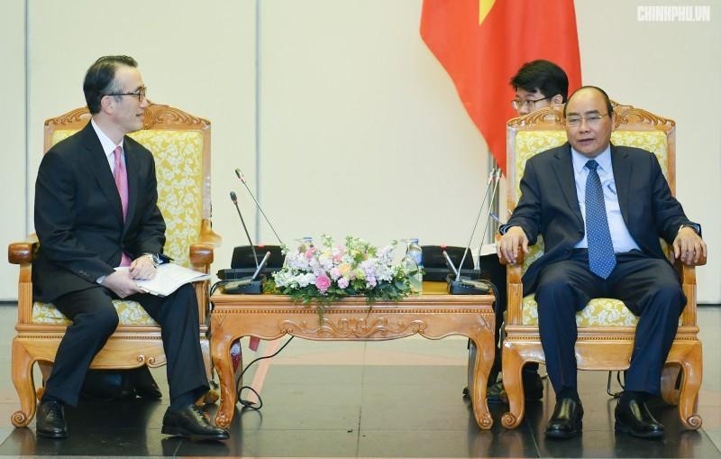 Thủ tướng tiếp Tổng Giám đốc Ngân hàng MUFG (Nhật Bản)