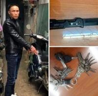 Bắt đối tượng trộm cắp xe máy với 30 chiếc chìa khóa trong người