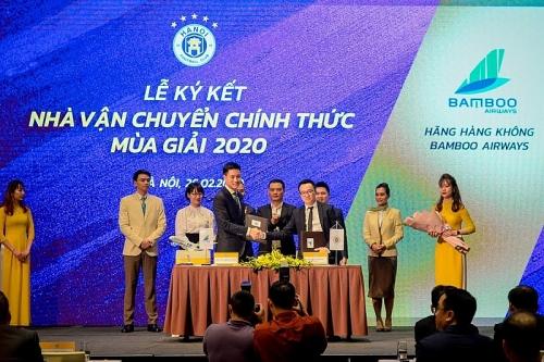 Bamboo Airways là nhà tài trợ vận chuyển chính thức cho CLB Bóng đá Hà Nội