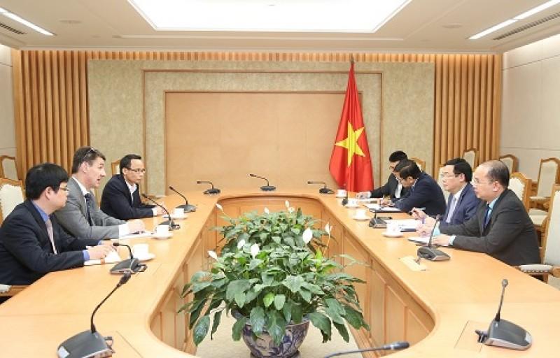 Phó Thủ tướng Vương Đình Huệ tiếp Giáo sư kinh tế Đại học Indiana (Hoa Kỳ)