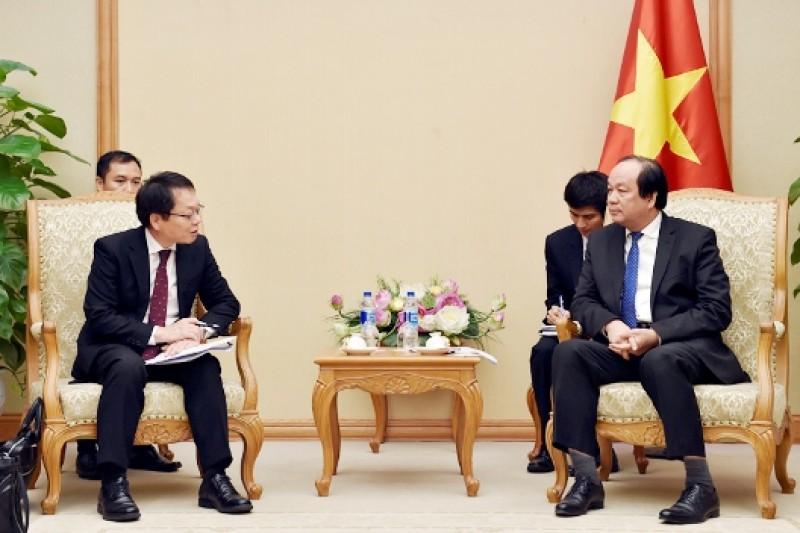 Chủ nhiệm Văn phòng Chính phủ tiếp Trưởng đại diện JICA tại Việt Nam