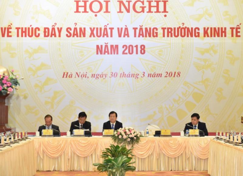 Phó Thủ tướng Trịnh Đình Dũng chủ trì Hội nghị về thúc đẩy sản xuất và tăng trưởng kinh tế