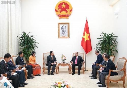 Thủ tướng tiếp Bộ trưởng hợp tác quốc tế Myanmar
