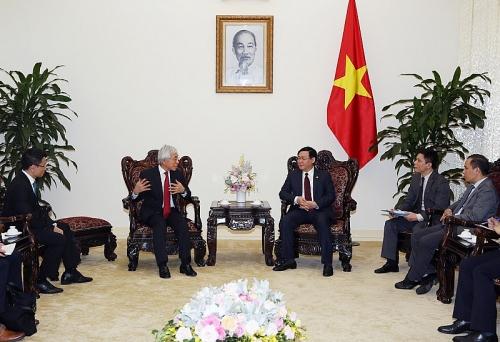 Phó Thủ tướng Vương Đình Huệ tiếp Giám đốc Tập đoàn J Trust (Nhật Bản)