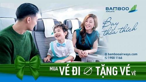 Khách chỉ cần mua vé máy bay chiều đi, chiều về Bamboo Airways miễn phí!