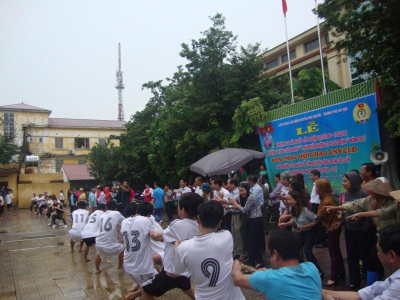 LĐLĐ huyện Phú Xuyên tổ chức Hội thao CNVCLĐ năm 2017