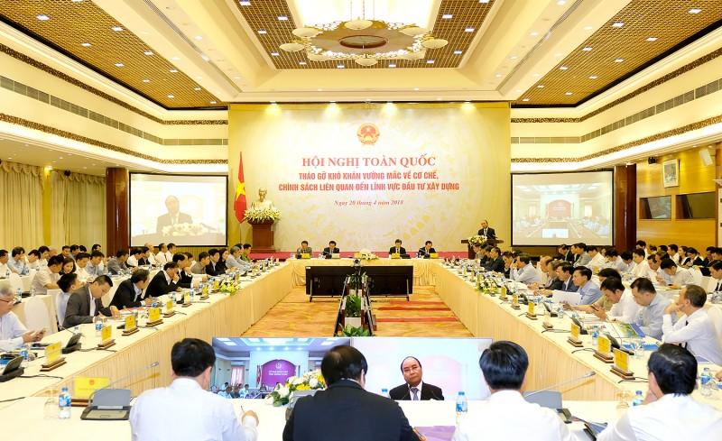 Thủ tướng Chính phủ chủ trì hội nghị về lĩnh vực đầu tư xây dựng