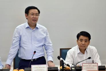 Phó Thủ tướng Vương Đình Huệ làm việc với TP Hà Nội