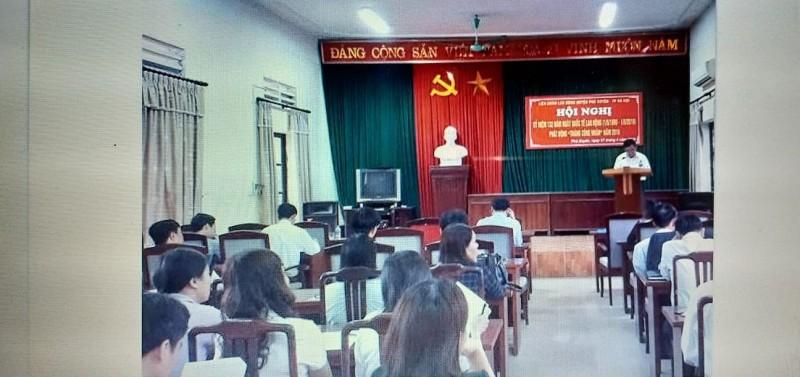 LĐLĐ huyện Phú xuyên tổ chức Hội nghị kỷ niệm 132 năm ngày Quốc tế Lao động