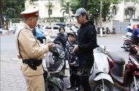 Công an TP Hà Nội: Xử lý 47.611 trường hợp vi phạm các quy định về đội mũ bảo hiểm