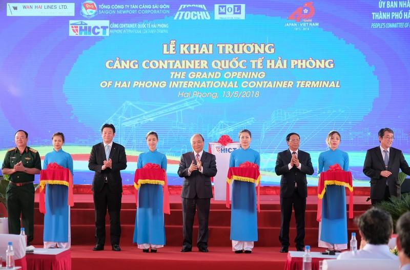 Thủ tướng dự lễ khai trương cảng Container quốc tế Hải Phòng