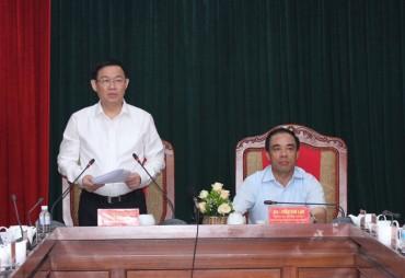 Phó Thủ tướng Vương Đình Huệ làm việc tại Tuyên Quang