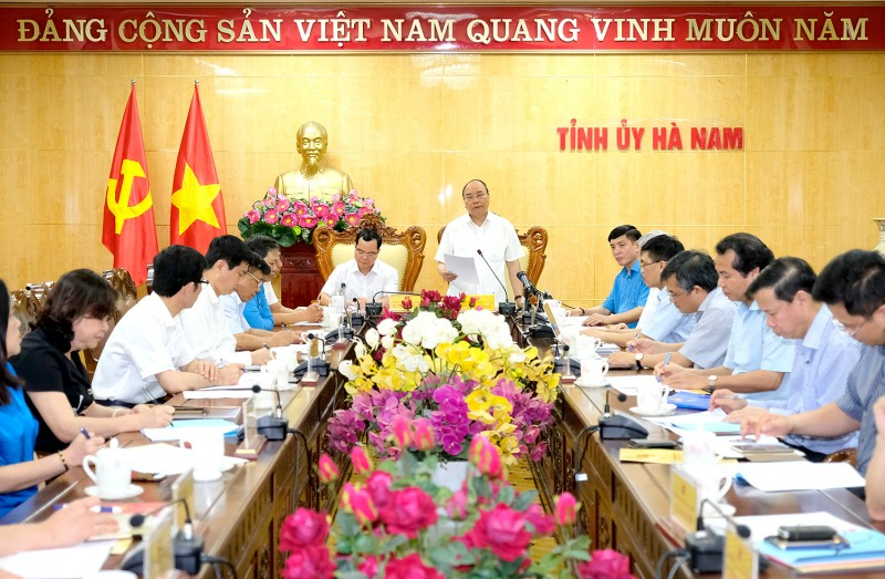 thu tuong lam viec voi tinh ha nam