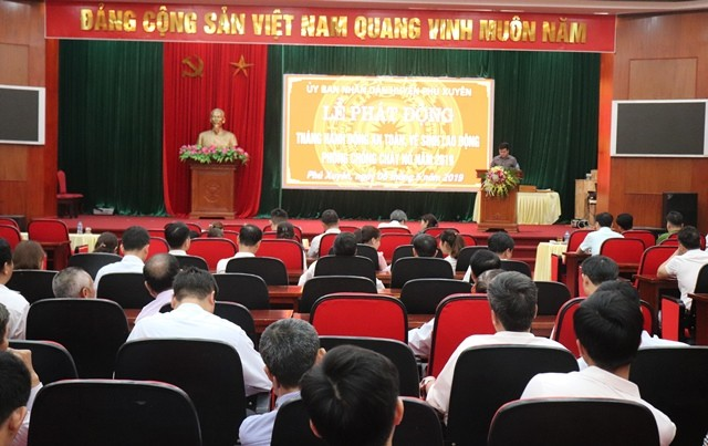 Huyện Phú Xuyên: Phát động Tháng hành động về An toàn vệ sinh lao động
