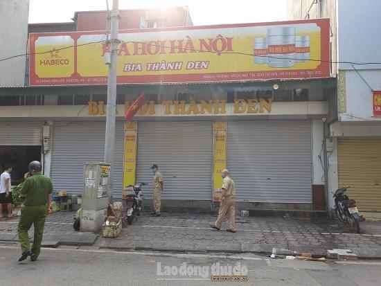Hàng loạt cửa hàng bia dừng hoạt động theo chỉ đạo của Thành phố