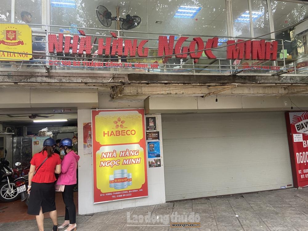 Hàng loạt các cửa hàng bia dừng hoạt động theo chỉ đạo của Thành phố
