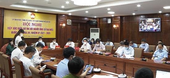 Các ứng cử viên đại biểu Quốc hội tiếp xúc cử tri tại huyện Phú Xuyên