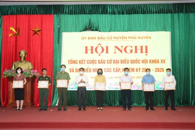 Huyện Phú Xuyên tổ chức Hội nghị tổng kết cuộc bầu cử