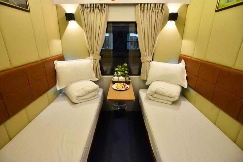 Khoang 2 giường đặc biệt trên toa xe đóng mới