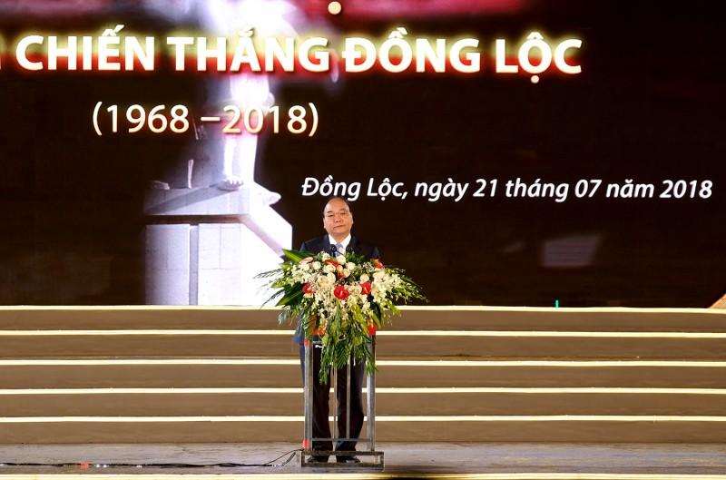 Phát biểu của Thủ tướng tại lễ kỷ niệm 50 năm Chiến thắng Đồng Lộc