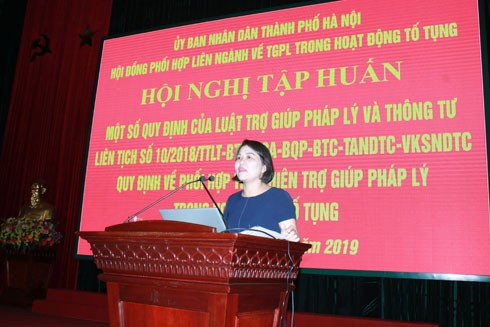 Công an TP Hà Nội: Tập huấn về trợ giúp pháp lý trong hoạt động tố tụng