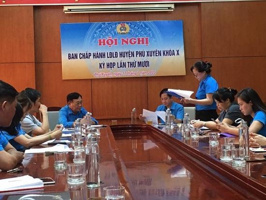 Liên đoàn Lao động huyện Phú Xuyên: Phát động các phong trào thi đua yêu nước chào mừng Đại hội Đảng bộ thành phố