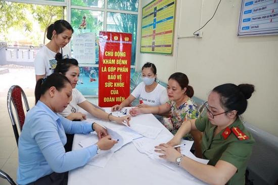 Khám bệnh miễn phí cho 757 đoàn viên công đoàn Công an Hà Nội