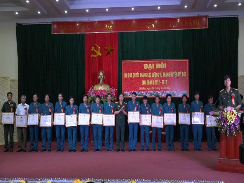 Đại hội thi đua quyết thắng lực lượng vũ trang huyện Mỹ Đức