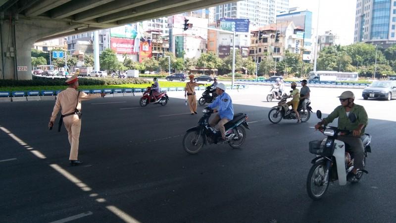 Tô chức đợt cao điểm xử lý vi phạm trật tự, an toàn giao thông