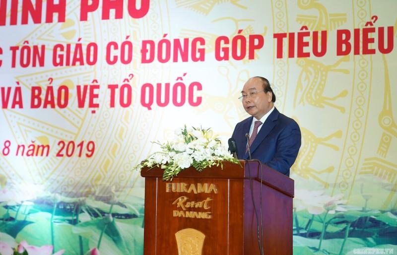Thủ tướng Nguyễn Xuân Phúc: Mọi tôn giáo đều tồn tại trong lòng dân tộc