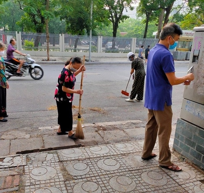 Quận Ba Đình: Duy trì vệ sinh môi trường sáng thứ 7 hàng tuần phòng, chống dịch Covid-19