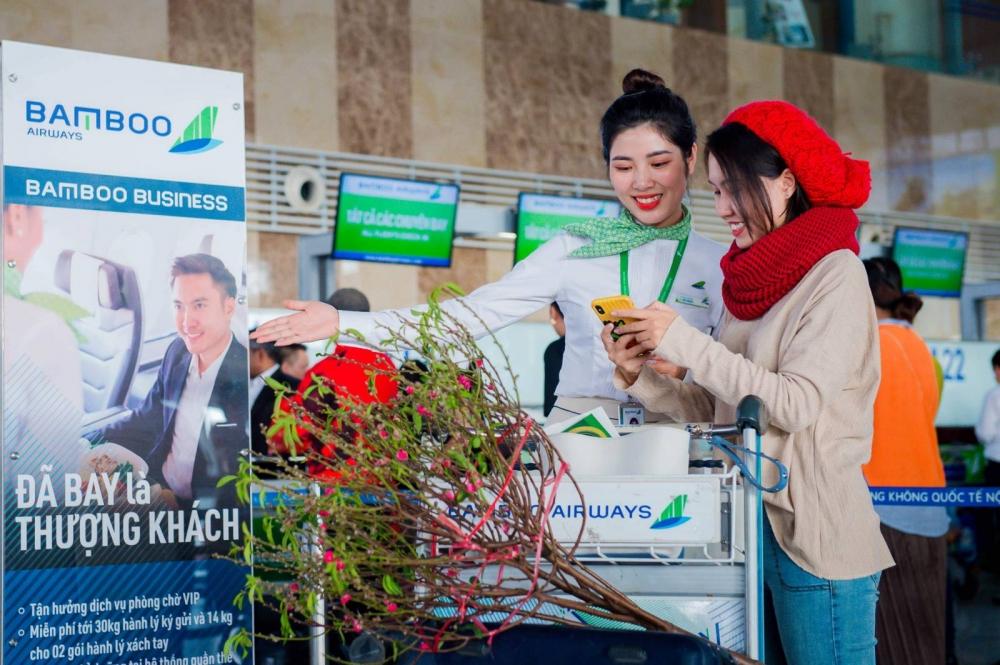 Bamboo Airways tung hàng triệu vé Tết các đường bay từ Hà Nội, TP. HCM giá từ 99.000 đồng