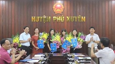Huyện Phú Xuyên bổ nhiệm cán bộ lãnh đạo quản lý ngành giáo dục