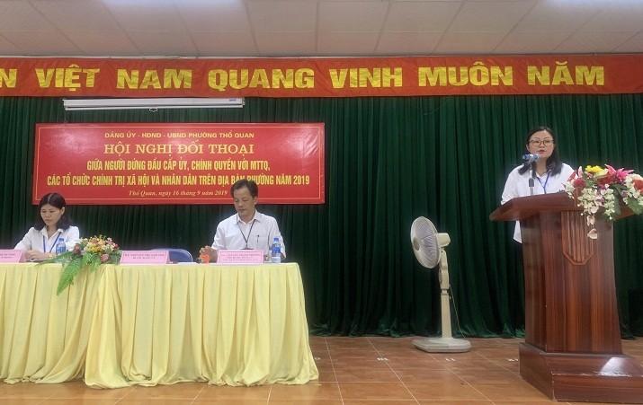 Phường Thổ Quan, quận Đống Đa: Giải đáp nhiều ý kiến thắc mắc của cử tri