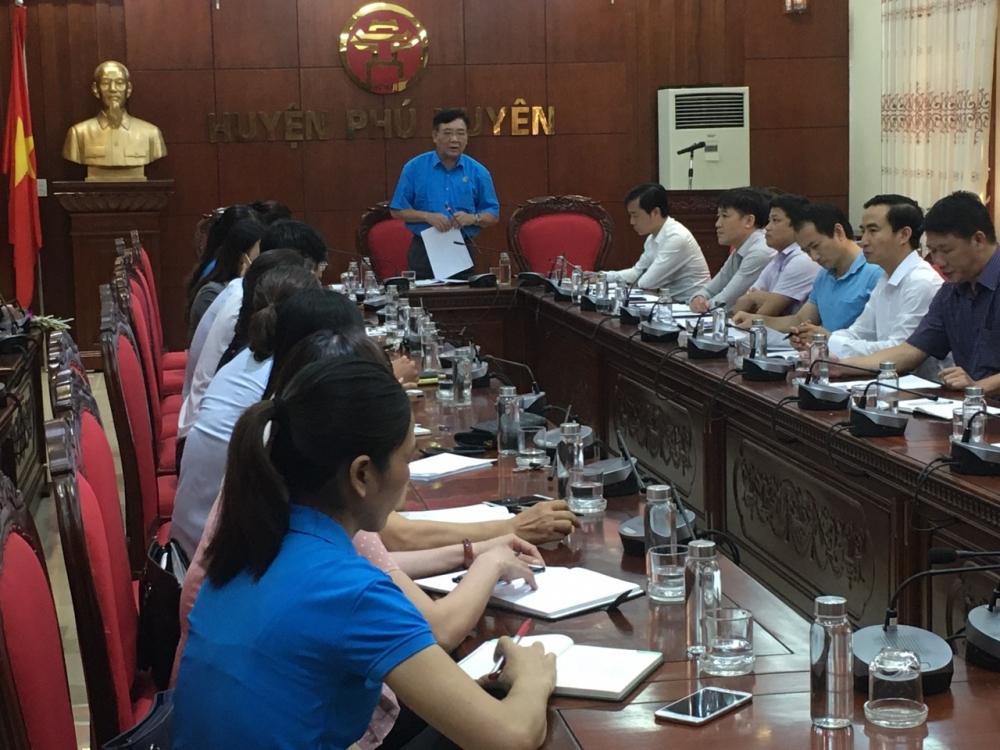Hội nghị Ban Chấp hành Liên đoàn Lao động huyện Phú Xuyên khóa X, nhiệm kỳ 2018-2023