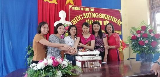 Trường Tiểu học Khai Thái: Đảm bảo chính sách chế độ với cán bộ giáo viên