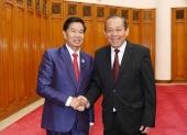 Phó Thủ tướng Thường trực Trương Hòa Bình tiếp Bí thư, Đô trưởng Vientiane