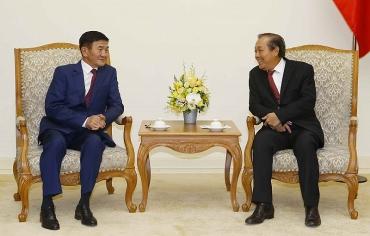 Phó Thủ tướng Thường trực tiếp Bộ trưởng Tư pháp Mông Cổ
