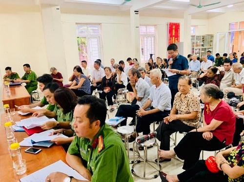 Công an quận Hà Đông: Lắng nghe ý kiến của nhân dân