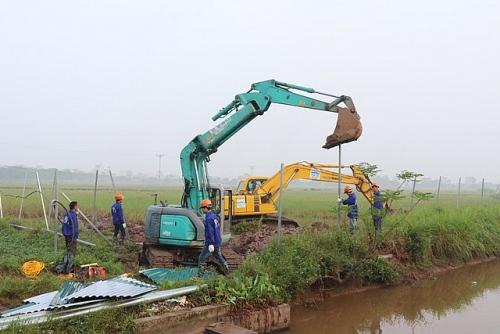 Huyện Phú Xuyên bàn giao mặt bằng sạch thực hiện dự án TBA 110Kv