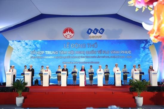 FLC động thổ Tổ hợp Trung tâm Hội nghị Quốc tế quy mô hàng đầu Việt Nam tại Vĩnh Phúc