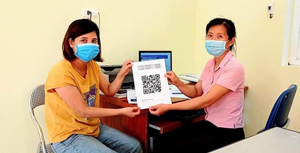 Phụ nữ Phú Xuyên đẩy mạnh công nghệ thông tin trong phòng, chống dịch
