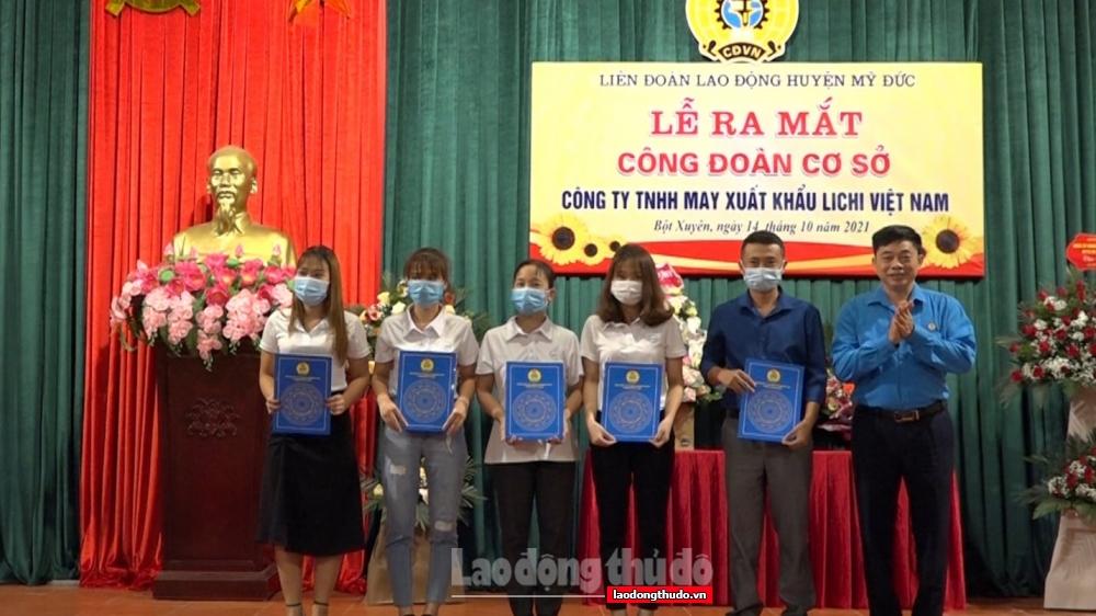 Thành lập Công đoàn Công ty May xuất khẩu LiChi Việt Nam: Đánh dấu mốc son trưởng thành