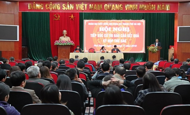 Cử tri huyện Phú Xuyên đề nghị nhiều vấn đề dân sinh