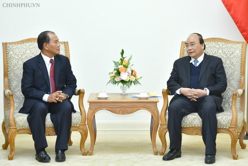 Thủ tướng tiếp Bộ trưởng Tư pháp Lào
