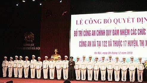 Công an Thành phố Hà Nội triển khai bố trí Công an xã chính quy