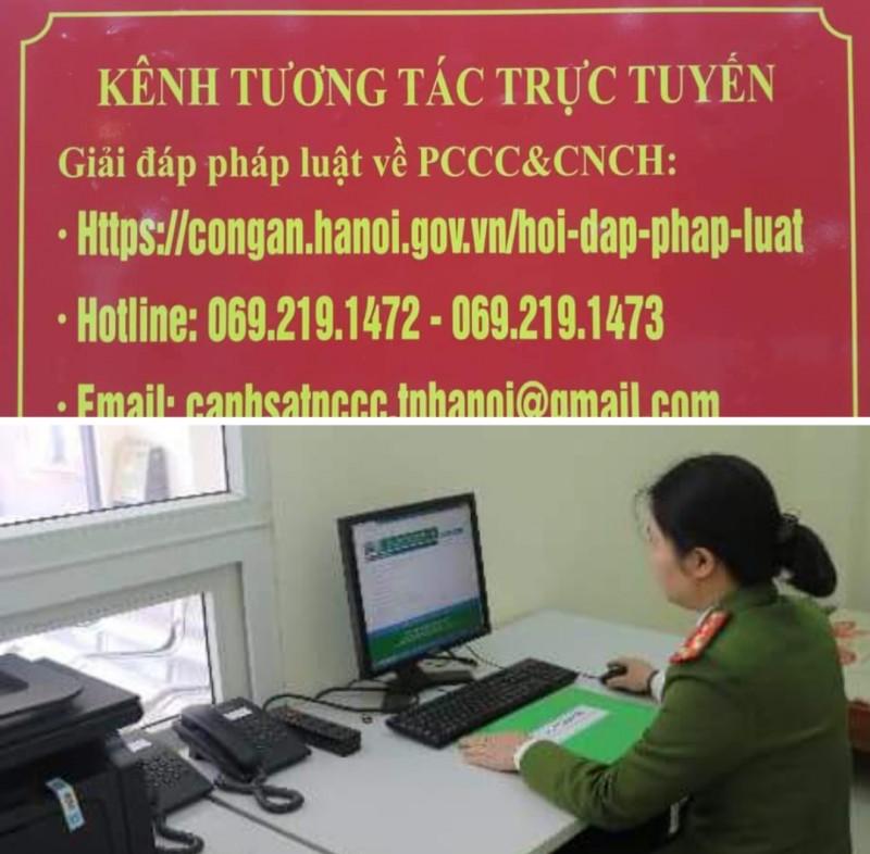 Cảnh sát phòng cháy chữa cháy tương tác trực tuyến với người dân