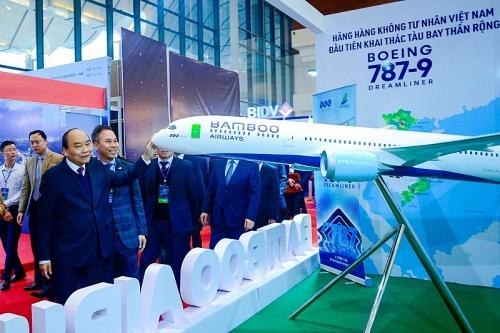 Thủ tướng Chính phủ chúc mừng Bamboo Airways đón máy bay thân rộng đầu tiên